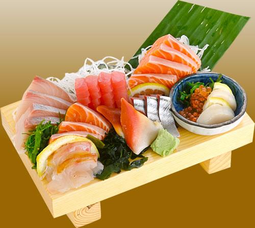 sashimi tallrik